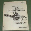 Homelite 330 Chain Saw Models 330, 330SL, 330W, Part 17505