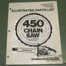 Homelite 450 Chain Saw Models 450, W, HG, SL Parts List 1st Ed. Part No. 24897