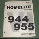 Homelite VI 944 & 945 Chain Saw Parts List, Part No. 24652 Illustrated