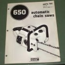 Homelite 650 Automatic Chain Saw Part No. 24836 Rev. 1 Illustrated