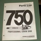 Homelite Parts List 750 Professional Chain Saw Part No. 17105 Illustrated