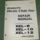 Homelite Parts List Electric Chain Saw Repair Manual Part No. 17213, XEL 8,10,12