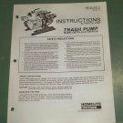 Homelite Parts List, Trash Pump Models 120TP3-1A & B, Part No. 24144-1A