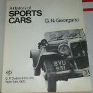 Sports Cars A History of Sports Cars G.N. Georgano hc 2nd print 1970 illustrated