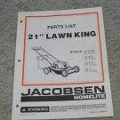 "Homelite Jacobsen Parts List 21"" Lawn King Models LK-21,P,PE & UT-31006,7,8,9"