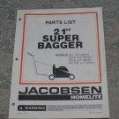 """Homelite Jacobsen Parts List 21"""" Super Bagger Models part no. JA-99018-4"""