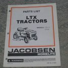Homelite Jacobsen Parts List LTX Tractors Models LTX 11 LTX 8 part no. JA99322