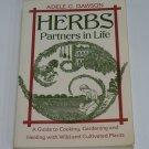 Herbs Partners in Life Adele G. Dawson cooking healing & gardening paperback