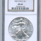 2002 American Silver Eagle NGC MS69 Brown/Gold Label Wholesale Priced
