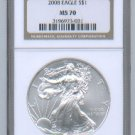 2008 American Silver Eagle NGC MS70 Brown / Gold Wholesale Priced
