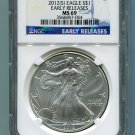 2012(S) American Silver Eagle NGC MS69 San Francisco Mint Label Early Release Wholesale Priced