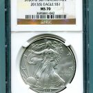 2013(S) Silver Eagle NGC MS 70 Brown/Gold Struck at San Francisco Mint Label Wholesale Priced