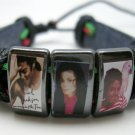 Michael Jackson picture leather  bracelet