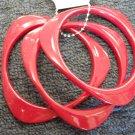 Red  triangular acrylic bangle bracelets