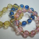 Beaded stretch bracelets lot of 3
