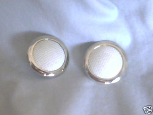 Vintage SARAH COVENTRY WHITE/GOLDTONE CLIP ON EARRINGS