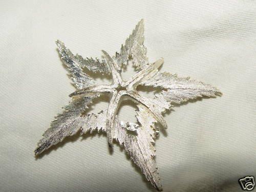 Vintage Silvertone STARFISH Brooch /Pin