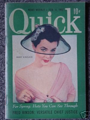 QUICK NEWS WEEKLY- FEB.11, 1952- MARY SINCLAIR Cover