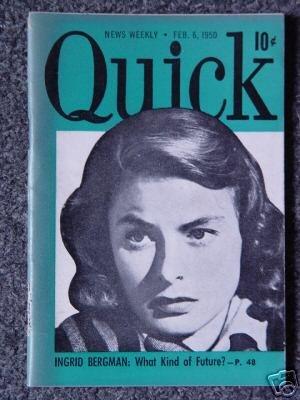 QUICK NEWS WEEKLY- Feb. 6, 1950 -  INGRID BERGMAN Cover