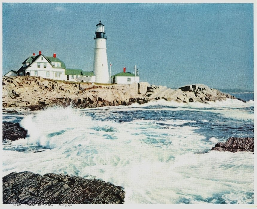 Vintage Print Lighthouse Sentinel Of The Sea 8x10
