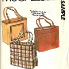 McCalls Tote Bag Vintage Sample Sewing Pattern