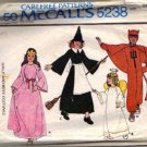 McCalls 5238 Childs Witch Devil Princess Angel Sewing Pattern Sz 2, 4