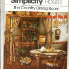 Country Dining Room Sewing Pattern 1970s Simplicity House 106