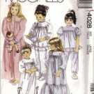 Girls Robe Nightgown Pajamas Sewing Pattern McCalls 4028 Size 5, 6
