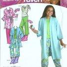 Girls Pajamas, Robe Sewing Pattern Simplicity 3988 Plus Size 8-16