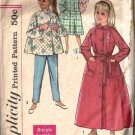 Girls 50s Robe Pajamas Vintage Sewing Pattern Simplicity 2755 Size 7