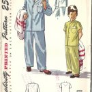 Boys Pajamas 40s Vintage Sewing Pattern Simplicity 2541 Size 8