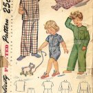 Infant 40s Pajamas Sewing Pattern Simplicity 2040 Size 6 Months