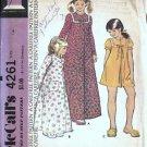 Teen Girls Robe 70s Vintage Sewing Pattern McCalls 4261 Size 14