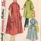 Misses 50s Robe, Housecoat Sewing Pattern Simplicity 4471 Size 12