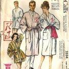 Men Misses 50s Wrap Robe, Beach Robe McCalls 2334 Size M 38,40