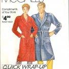 Men, Misses Wrap Robe McCalls 0011 Size S, M, L, XL