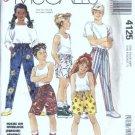 Boy/Girl Pants, Shorts Sewing Pattern McCalls 4125 Sz 7, 8, 10, 12, 14