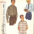 Teen Boys 50s Shirt Vintage Sewing Pattern Simplicity 2212 Size 14