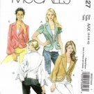 Misses Unlined Jackets Sewing Pattern McCalls 5327 Size 4, 6, 8, 10