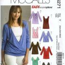 McCalls 5271 Misses 2006 Tops Sewing Pattern Size 4, 6, 8, 10, 12, 14