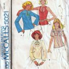 McCalls 5021 Misses Tops 70s Vintage Sewing Pattern Size 14, 16