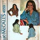 McCalls 4659 Misses Blouse 70s Vintage Sewing Pattern Size 18
