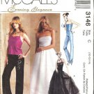 Misses Evening Top Pants Skirt Sewing Pattern McCalls 3146 Sz 10 12 14