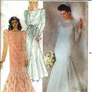 Misses Bride Dress, Slip, Veil Sewing Pattern Butterick 4414 Size 16