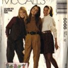 Misses Vest, Tops, Pants, Shorts Sewing Pattern Size 12 McCalls 5066