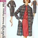 Misses Dress, Coat 60s Vtg Sewing Pattern Simplicity 5307 Size 12