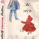Girls 50s Coat, Bonnet, Leggings Sewing Pattern Simplicity 4054 Size 1