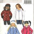 Girls Hooded Jacket, Hat Sewing Pattern Butterick 4648 Sz 2, 3, 4, 5
