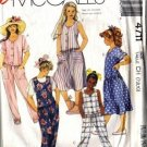 McCalls 4711 Girls 80s Jumpsuit, Dress Sewing Pattern Size 7, 8, 10