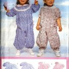 Infant Girl Romper, Jumpsuit Sewing Pattern Butterick 4589 S, M, L, XL